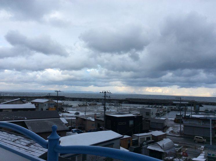 津軽海峡が見える